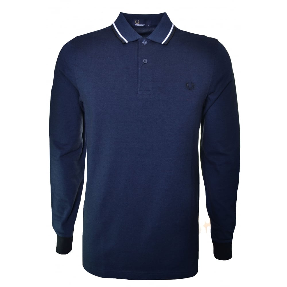 Fred Perry Mens Long Sleeved Polo Shirt