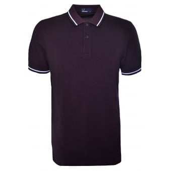 Fred Perry Men's Mahogany Polo Shirt