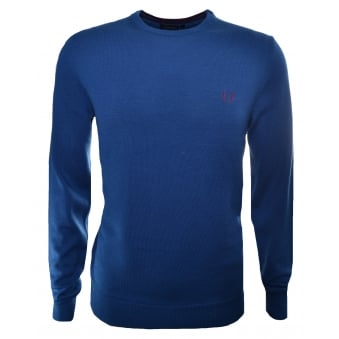 Fred Perry Men's Service Blue Jumper