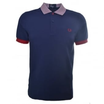 Fred Perry Men's Slim Fit Carbon Blue Polo Shirt