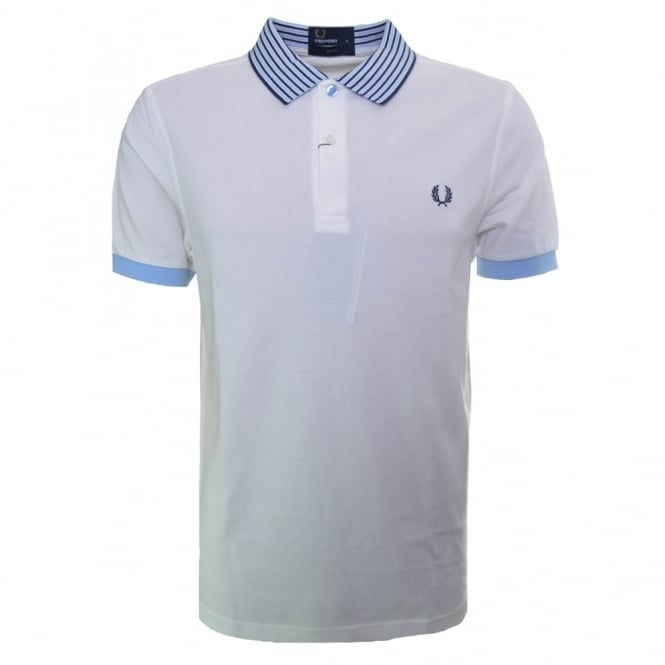 Fred Perry Men's Slim Fit Snow White Polo Shirt