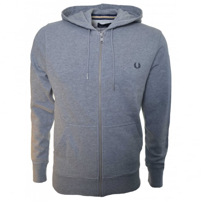 Fred Perry Men's Steel Marl Zip Through Sweatshirt