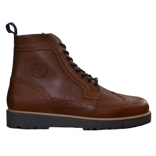 Fred Perry Mens Tan Northgate Leather Boots
