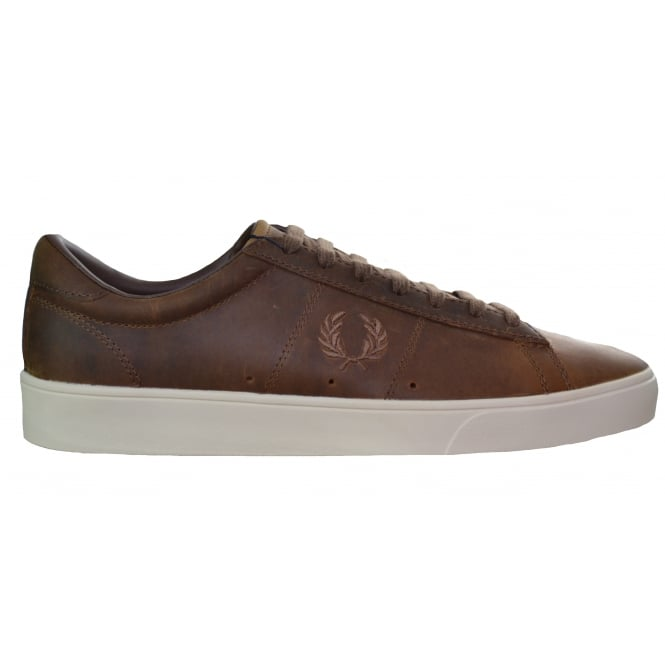 Fred Perry Mens Tan Spencer Leather Trainer