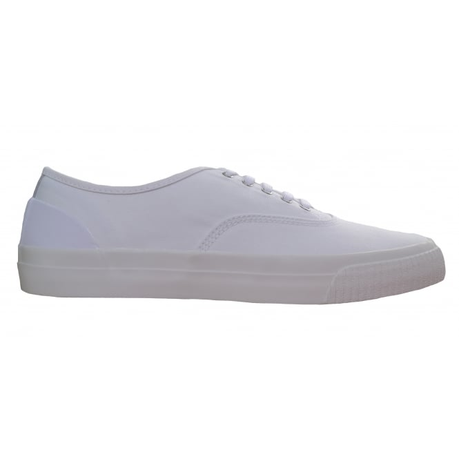 Fred Perry Men's White Barson Canvas Trainers