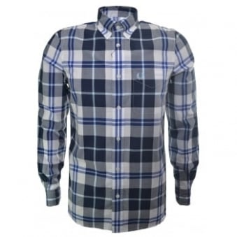 Fred Perry Men's White Bold Check Shirt