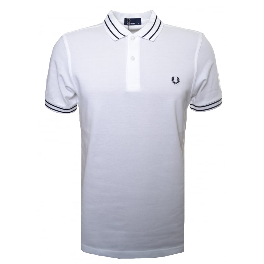 0d0f4c4a9 fred perry mens white polo shirt