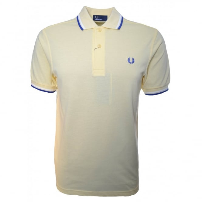 Fred Perry Men's Yellow Twin Tipped Polo Shirt