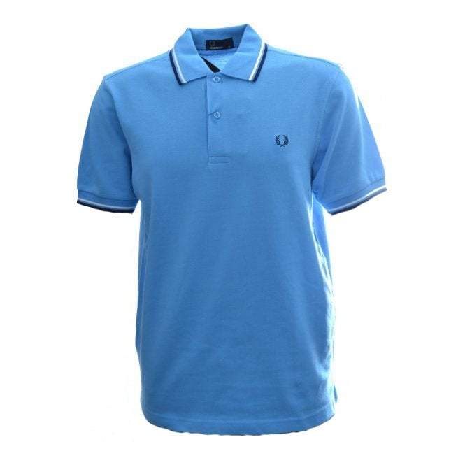 Fred Perry Soft Blue Twin Tipped Polo Shirt