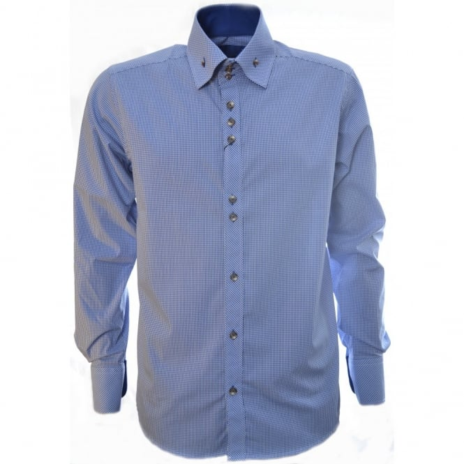 Guide London Blue Long Sleeve Shirt