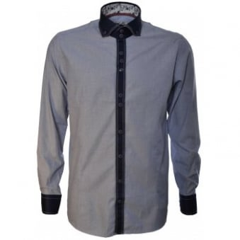 Guide London Mens Blue Long Sleeve Shirt