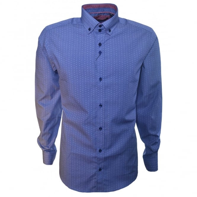 Guide London Men's Blue Long Sleeve Shirt