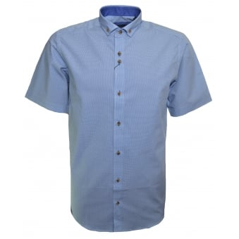 Guide London Men's Blue Short Sleeve Shirt