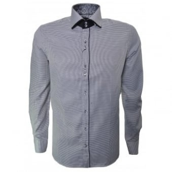 Guide London Men's Long Sleeve Black Check Shirt
