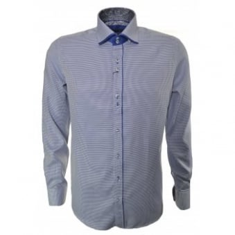 Guide London Men's Long Sleeve Blue Check Shirt