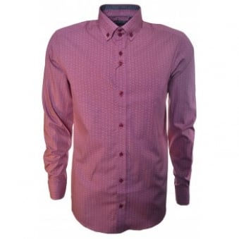 Guide London Men's Red Long Sleeve Shirt