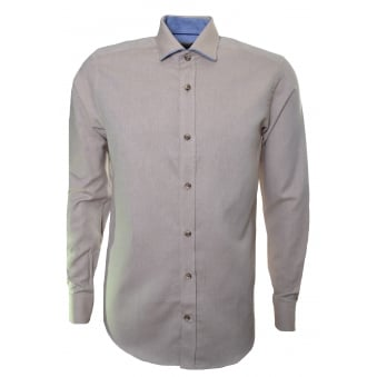 Guide London Men's Tan Long Sleeve Shirt