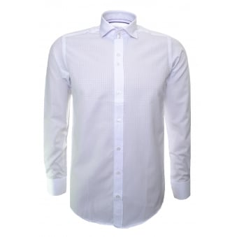 Guide London Men's White Long Sleeve Shirt