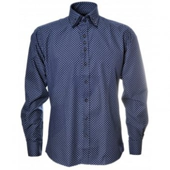 Guide London Navy Blue Double Collar Shirt