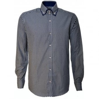 Guide London White And Blue Long Sleeve Shirt