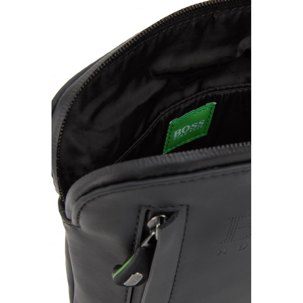 baf7adc076 Hugo Boss Green Men's Hyper_S Zip Env Black Shoulder Bag