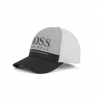 e6ca4cec130eb Hugo Boss Mens Grey Rubber-Print Logo Cap