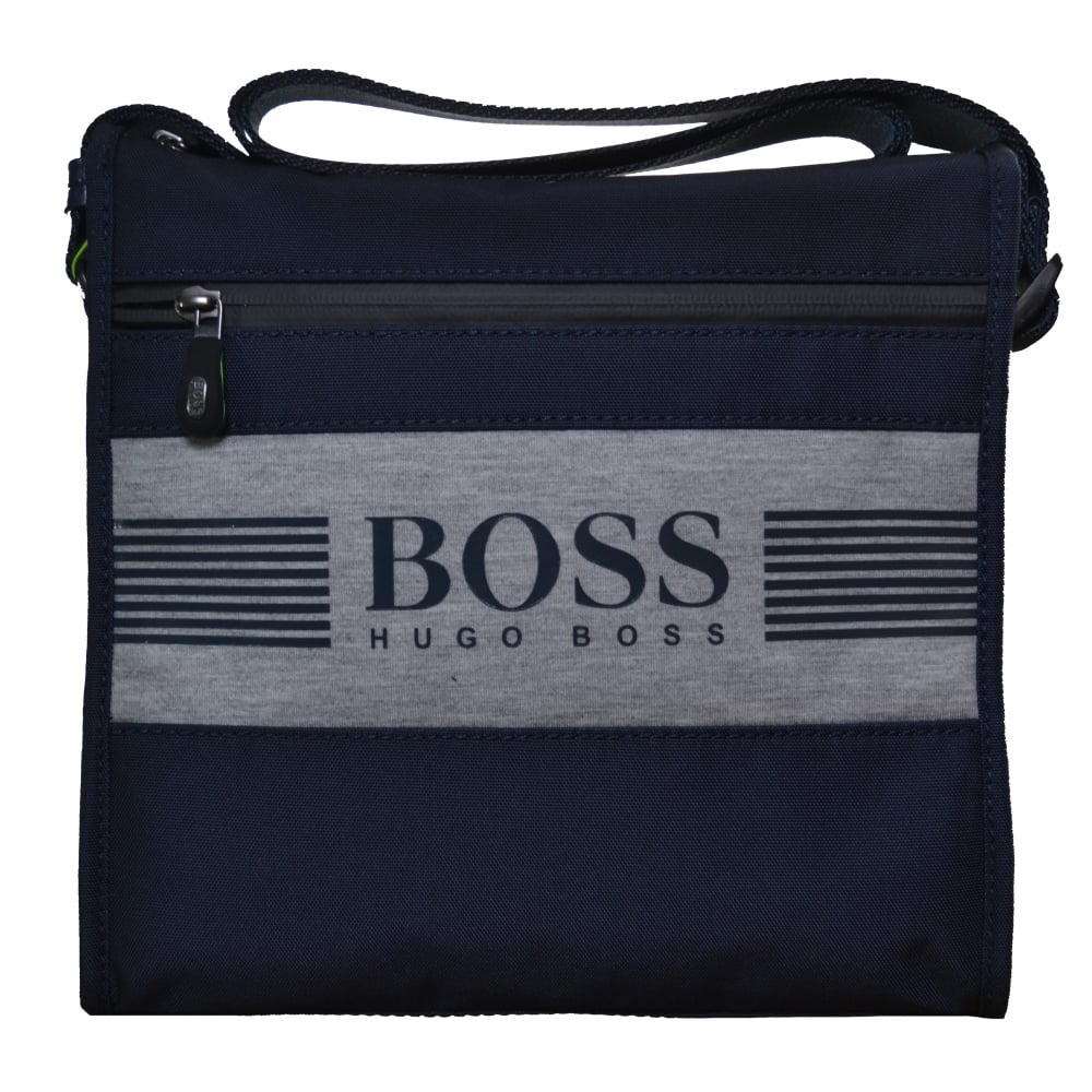 new products classic fit free shipping Hugo Boss Accessories Hugo Boss Men's Navy Blue Pixel J_B Small Shoulder Bag