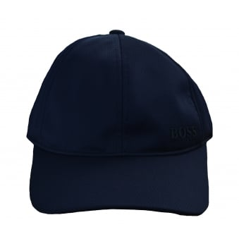 Hugo Boss Men's Navy Herringbone Print Cap