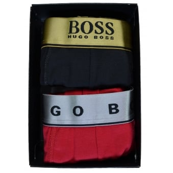 Hugo Boss Men's Open Red Set Of Two Boxers