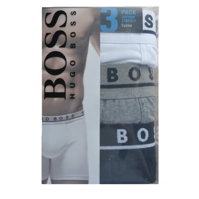 Hugo Boss Accessories Hugo Boss Mens Pack Of Three Cyclist Boxers