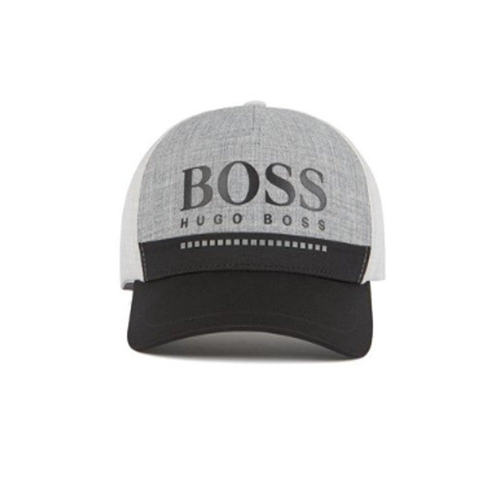 hugo boss accessories mens grey rubber-print logo hat f028c2b097f5