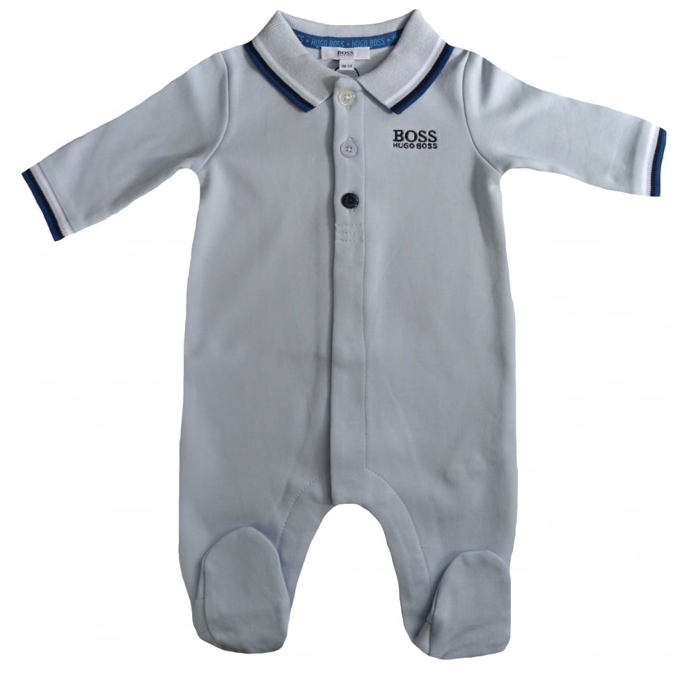 Hugo Boss Baby Boys Pale Blue All In One 80277c97e