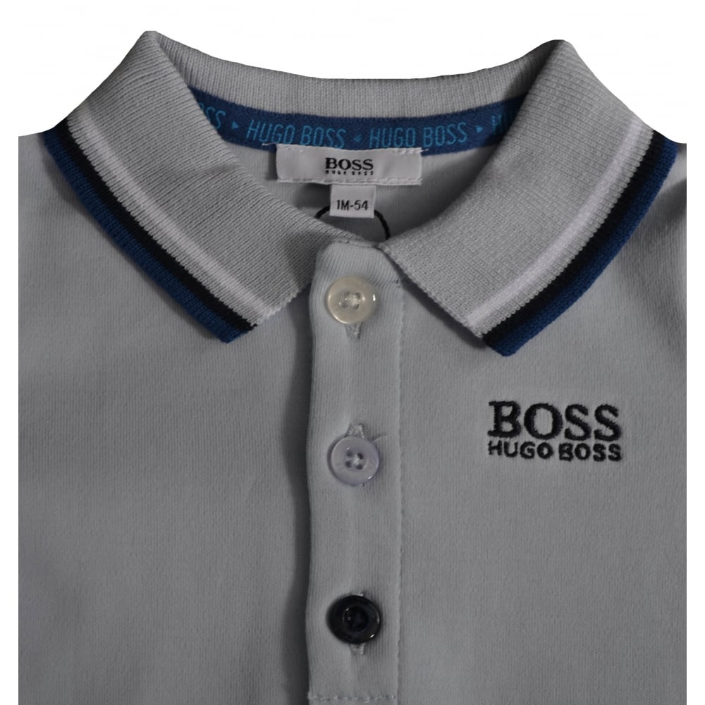 bb2ed0a8e Hugo Boss Baby Boys Pale Blue All In One