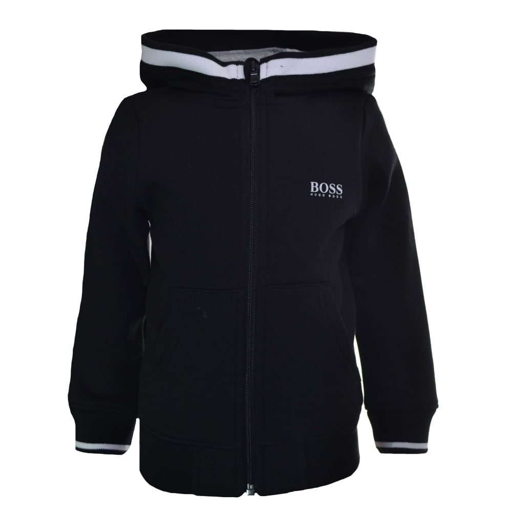 552a8b698 Hugo Boss Kids Black Hooded Tracksuit
