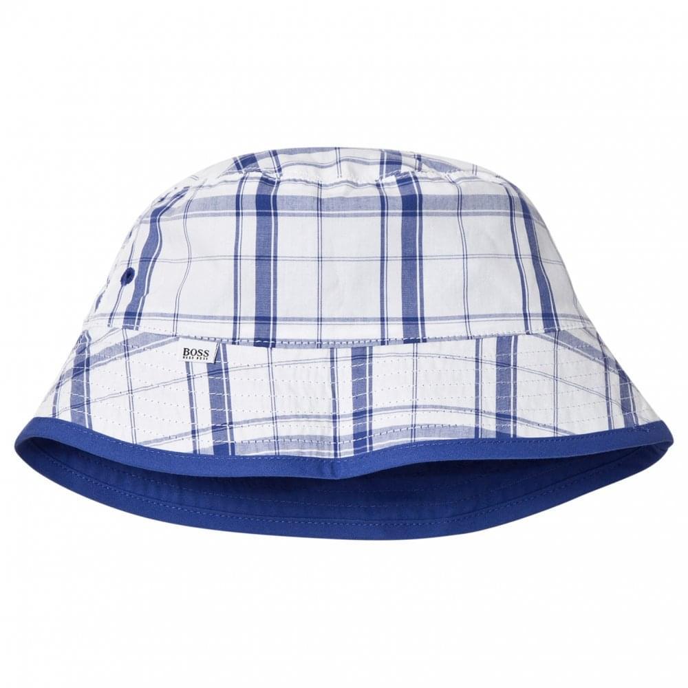 5063b536c40 Hugo Boss Kids Blue Reversible Bucket Hat