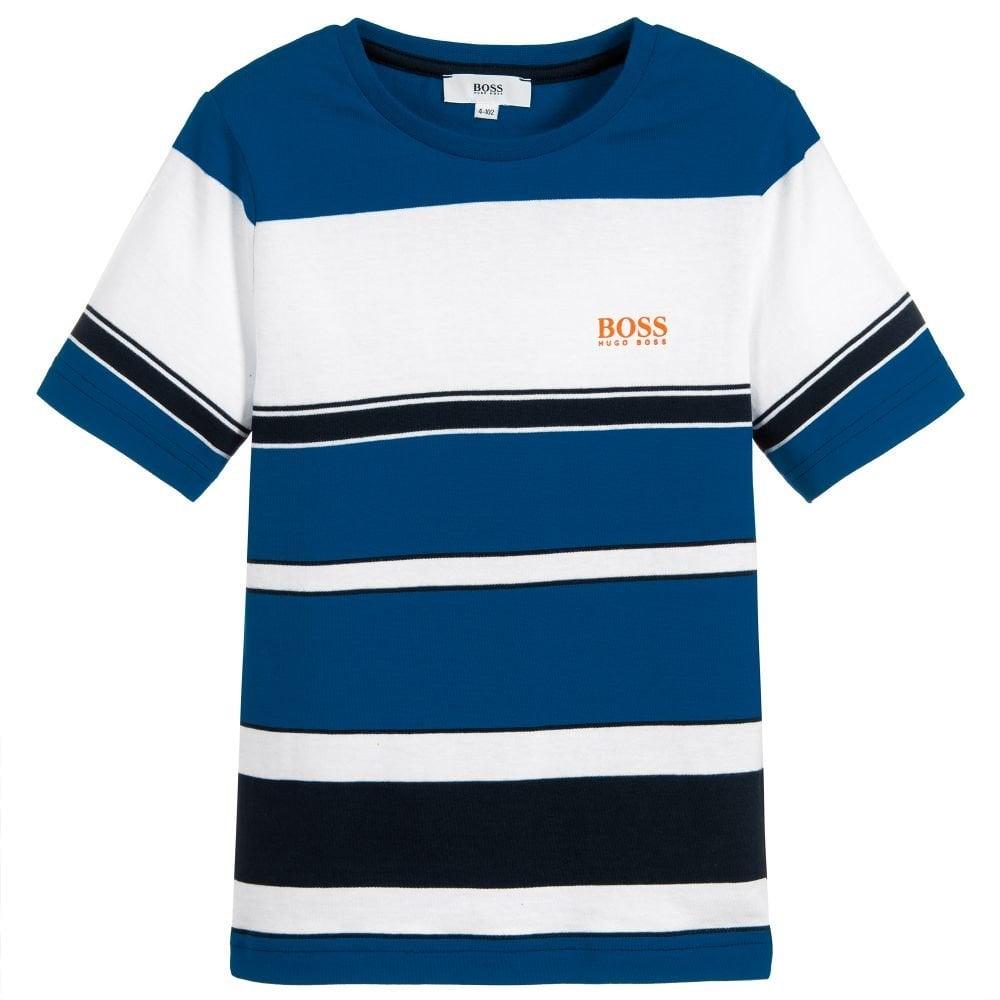 8218bd7a4 Hugo Boss Kids Blue Striped T-Shirt