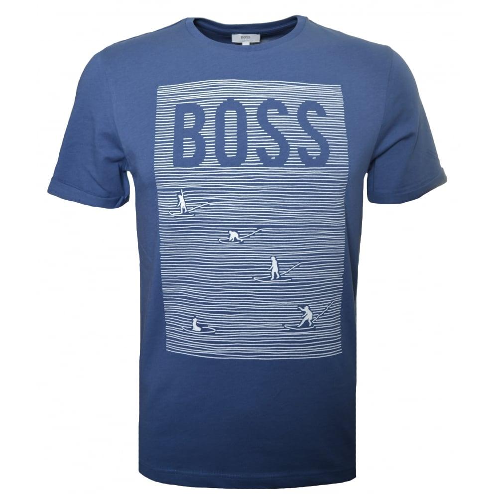 aa8df2d62 hugo boss kids blue t-shirt