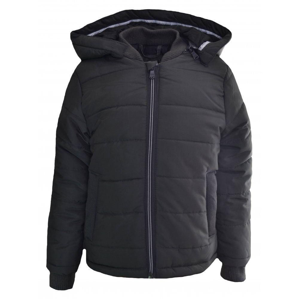 335d4f778a Hugo Boss Kids Dark Grey Puffer Jacket