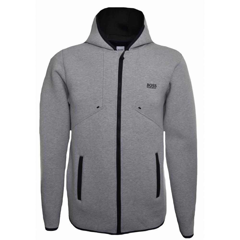 9d30e56ef Hugo Boss Kids Grey Neoprene Hooded Jacket