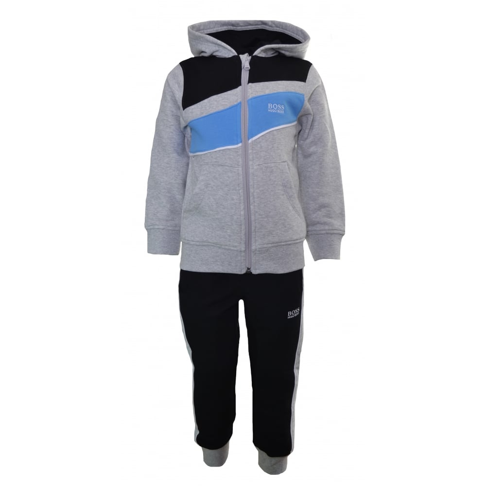 e8ea21877d2 hugo boss kids light blue and grey tracksuit