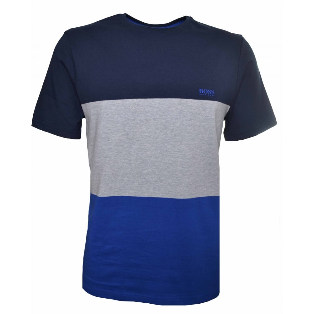 244cc3a272269 Hugo Boss Kids Navy Blue Block Colour T-Shirt