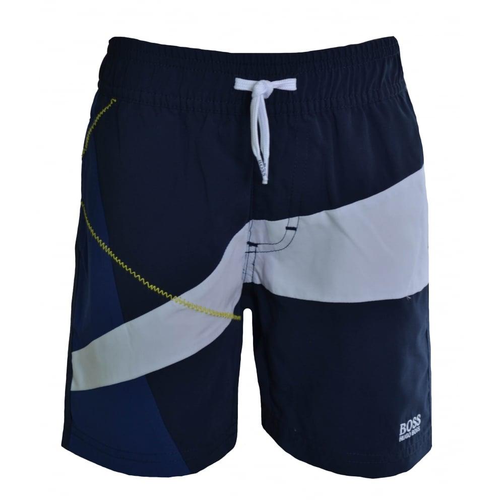 6092efa1 Hugo Boss Kids Navy Blue Swimming Shorts