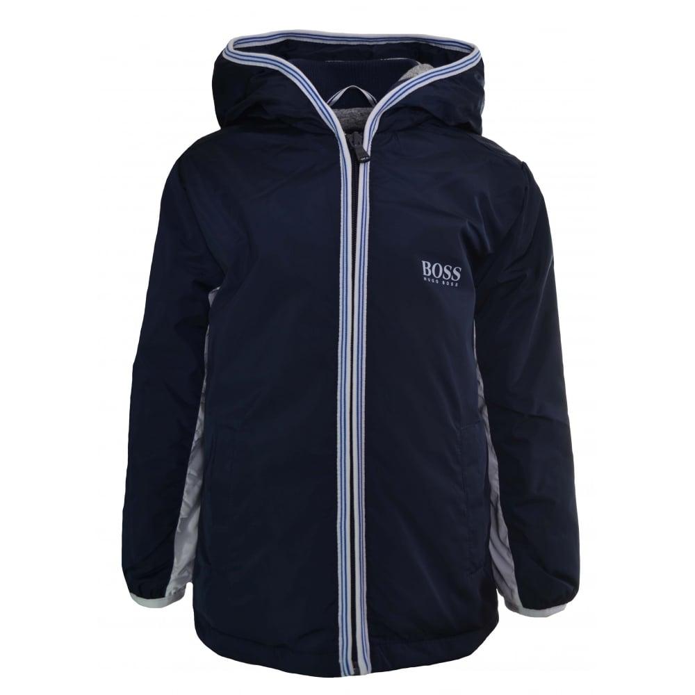 473130b1a4ae Hugo Boss Kids Navy Blue Windbreaker Jacket