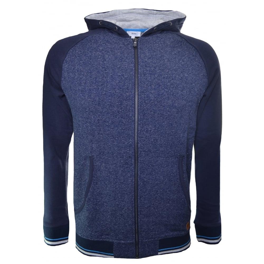 eb114624e Hugo Boss Kids Navy Blue Zip Through Hooded Sweatshirt