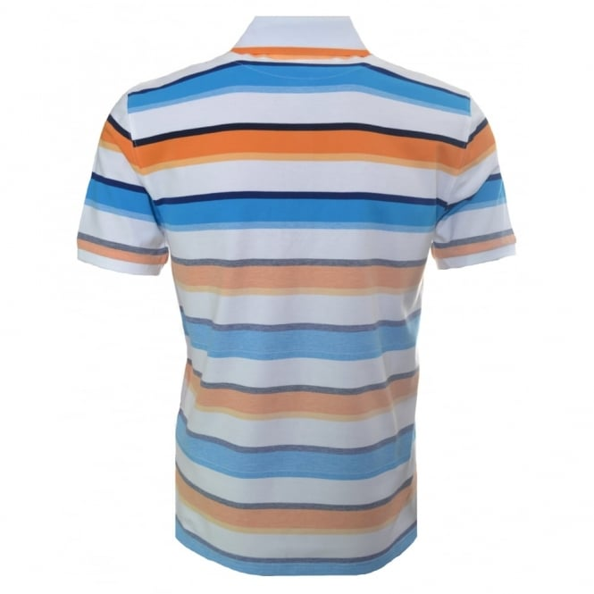 35ddbd11b ... canada hugo boss kids orange and blue stripe polo shirt f0457 e08aa