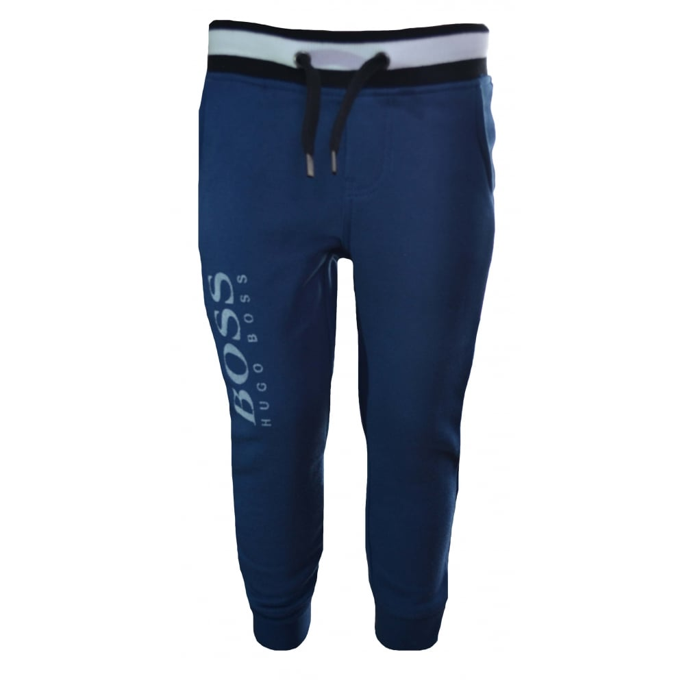 cute 2019 clearance sale price reduced Hugo Boss Kids Teal Jogging Bottoms