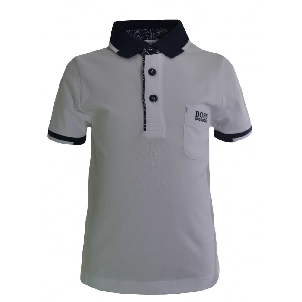 e18e13d0 Hugo Boss Kids White Polo Shirt