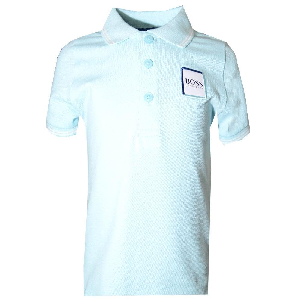54cb7603 Hugo Boss Boys Turquoise Polo Shirt