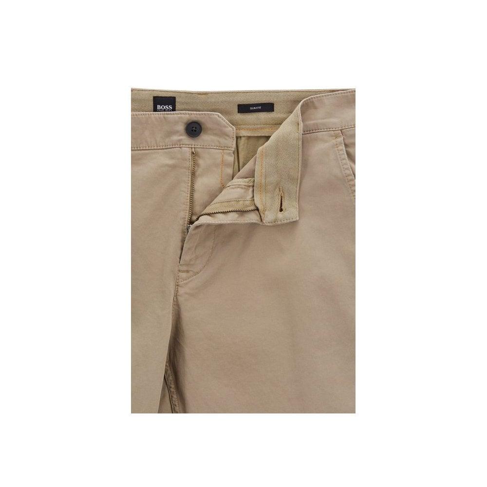 5552752b hugo boss beige slim fit schino shorts