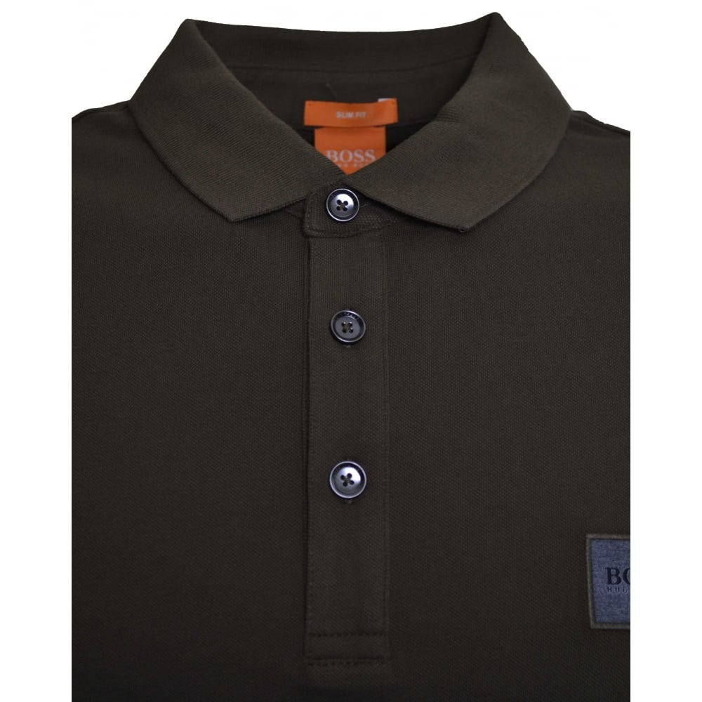 ecce9ae2 Hugo Boss Men's Casual Slim Fit Khaki Pavlik Polo Shirt